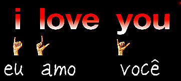 Resultado de imagem para Símbolo I love you em  Libras