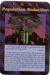Carta do Jogo RPG que previu os planos Illuminatis da Redução da População Mundial.