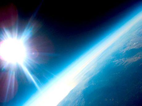 Foto da estratosfera terrestre