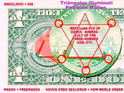 Illuminati dollar - Mensagem Subliminar