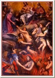 O purgatório não é mensionado nenhuma vez na Bíblia. E o Senhor Jesus ao mencionar os destinos do rico e Lázaro apenas confirma dois lugares: o rico foi direto para o inferno e Lázaro foi para o paraíso (Lucas 16:19 a 31). Tal texto tem deixado os papas em apuros, porque se até mesmo o santo papa queima mo purgatório, poque o rico e o ladrão da cruz foi um direto para o inferno e o outro para o paraíso.