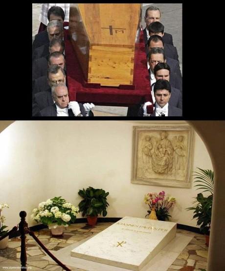 "Ser sepultado na Basílica, privilégio ANTES, só aos ""santos"" papas."
