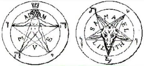 """O pentagrama sempre representa o mal, para os satanistas é a presença do """"demo""""."""